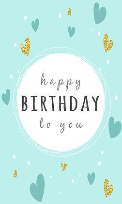 Happy birthday hearts