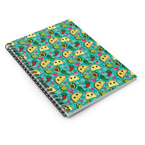 Taco Time Spiral Notebook - Ruled Line