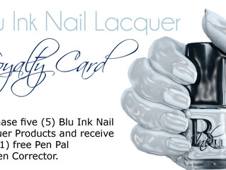 Blu Ink's Loyalty Card