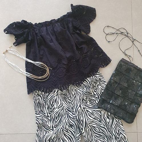 חולצת ריטה שחורה S