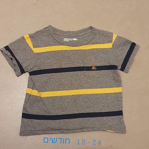 חולצה עם כיס 18-24 חד