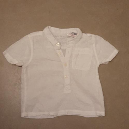 חולצה לבנה מכופתרת 6-9 חד