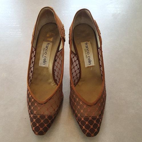 נעלים אלגנטיות חומות מעור 36