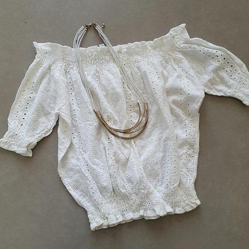 חולצת ריטה לבנה 36