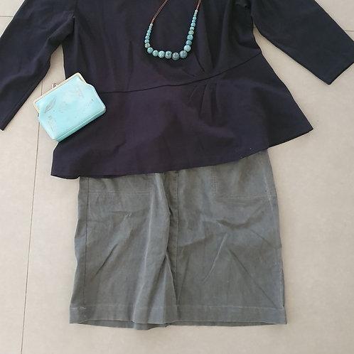 חצאית אפורה M