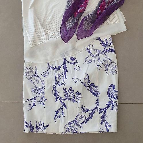 חצאית מיני פרחונית 38