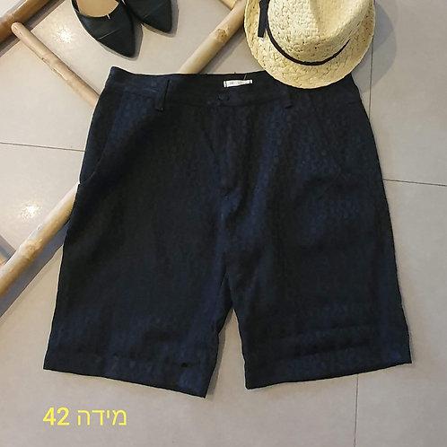 מכנס שחור קצר אלגנט - 42