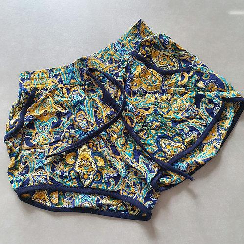 מכנס שורט קצר פירחוני עם כיסים S