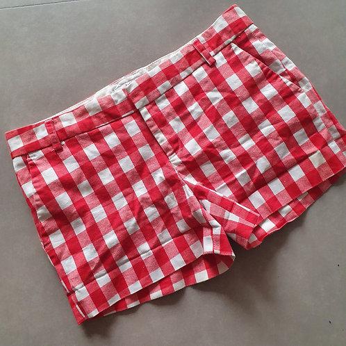 מכנס משבצות אדום לבן מידה 28 m