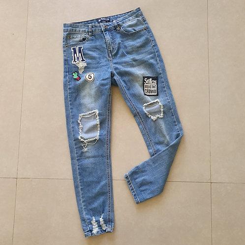 מכנס ג'ינס קרעים 24
