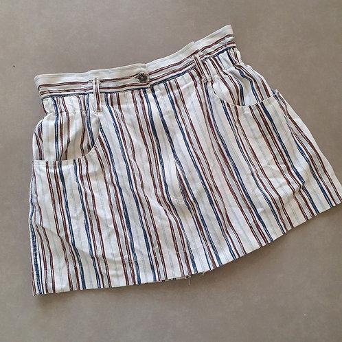 חצאית מיני פסים 38