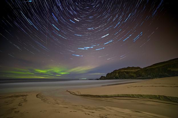 Star trails over Dalmore beach