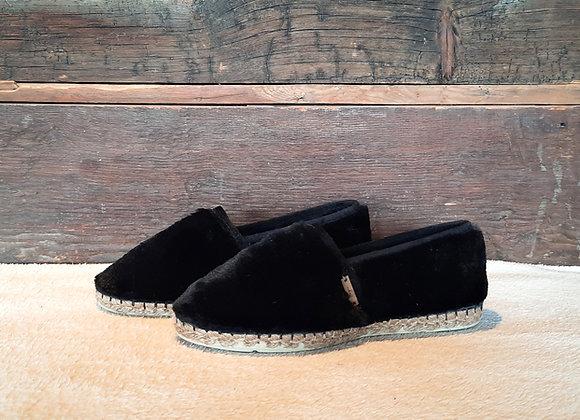 Espatoufles FOURRURE noire