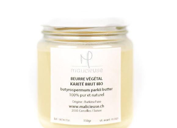 Beurre de karité brut bio - 150gr