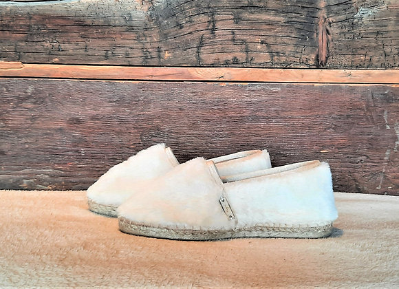 Espatoufles FOURRURE blanche