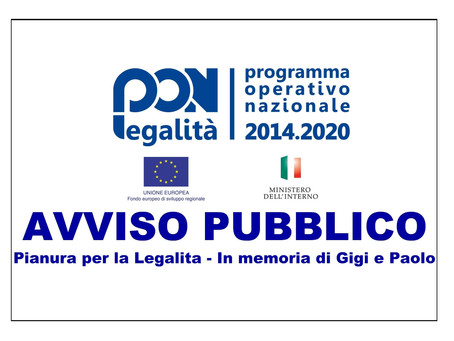 PON LEGALITÀ 2014/2020