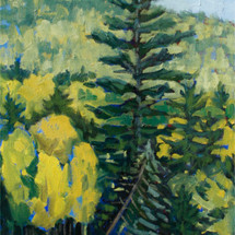 Leigh SMith, Lee's Favorite tree, oil on