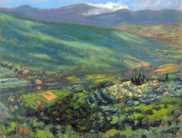 Valley toward Lake Trasimeno, Italy