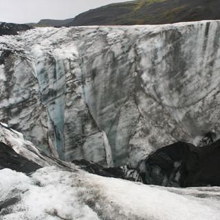 Solheimajokull glacier Melting, Iceland_