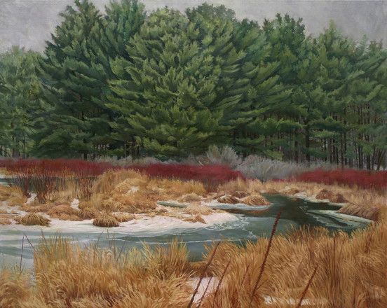 "Pines at Potic Creek, oil on canvas, 48"" x 60""  SOLD"