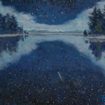 Leigh Smith, Comet, oil on canvas, 11%22