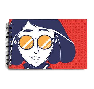 Urban Girl Red Hardbound Sketchbook 4
