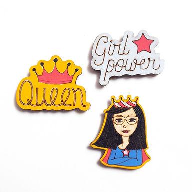 Super Woman Badge Magnets Combo 1