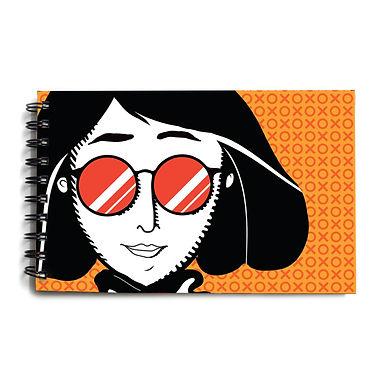 Urban Girl Yellow Hardbound Sketchbook 2
