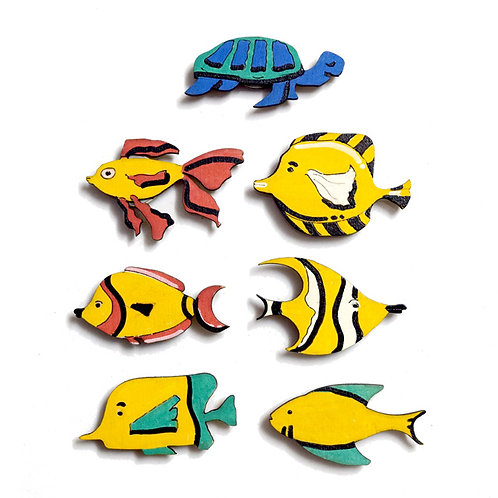 Fish Badge Magnets Combo 1