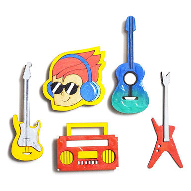 Music Badge Magnets Combo 2