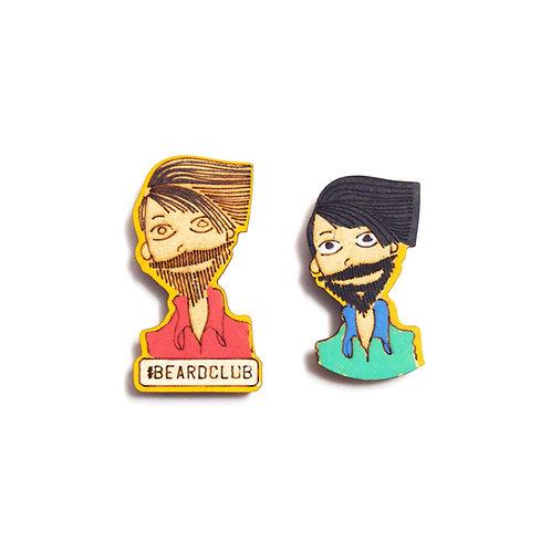 Boy Cartoon Badge Magnets Combo 6