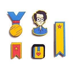 Bibliophile Badge Magnets Combo 4