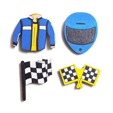 Rider Badge Magnet Pins Combo