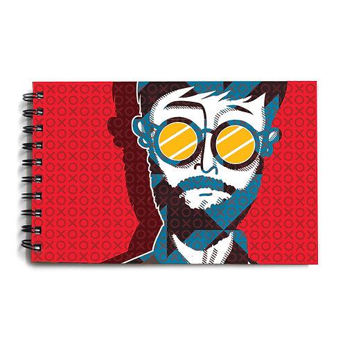 Urban Man Red Hardbound Sketchbook 6