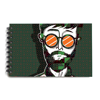 Urban Man Army Green Hardbound Sketchbook 7