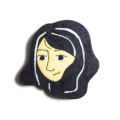 Girl Cartoon Badge Magnet 7
