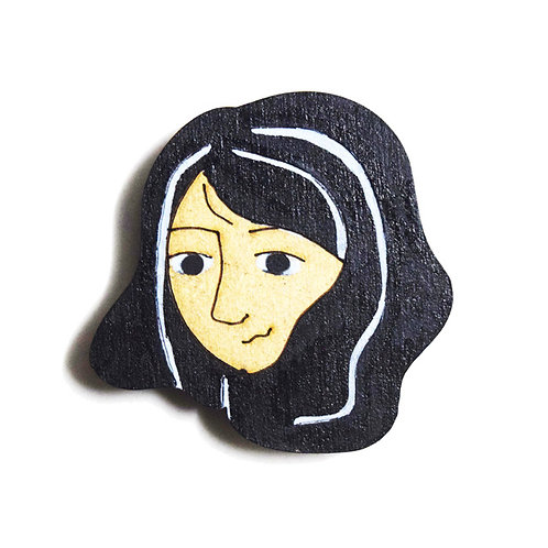 Girl Cartoon Badge Magnet 7