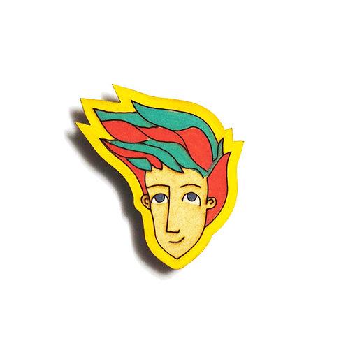 Boy Cartoon Badge Magnet 21