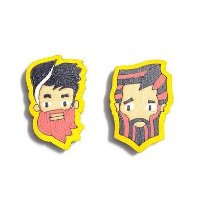 Boy Cartoon Badge Magnets Combo 4