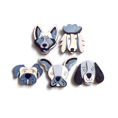 Dog Love -Badge Magnets Combo3