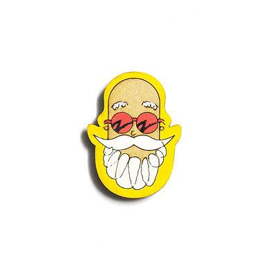 Boy Cartoon Badge Magnet 11