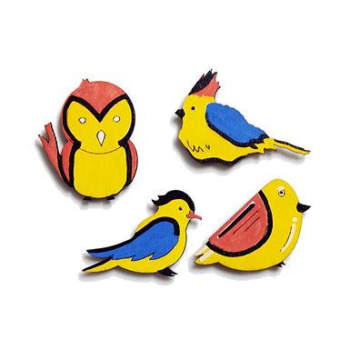 Bird Badge Magnets Combo 1