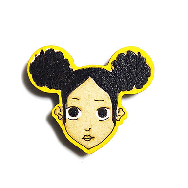 Girl Cartoon Badge Magnet 13