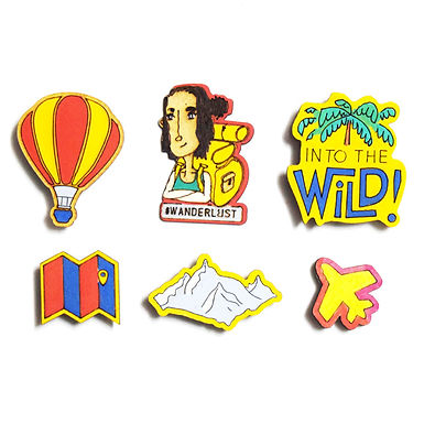 Traveller Badge Magnets Combo 3