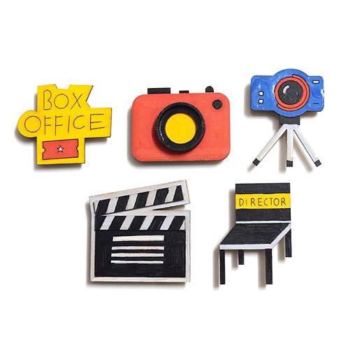 Film Making - Badge Magnets Combo 1