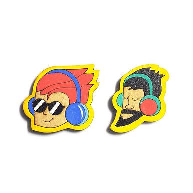 Boy Cartoon Badge Magnets Combo 5