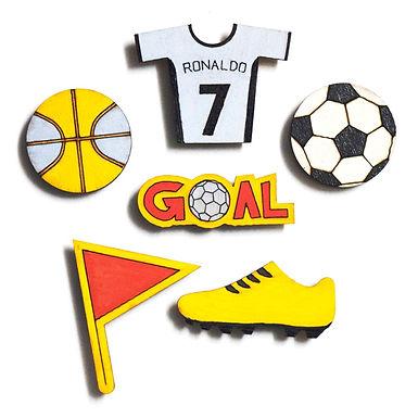 Football Badge Magnets Combo 2