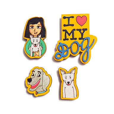 Dog Love -Badge Magnets Combo 2