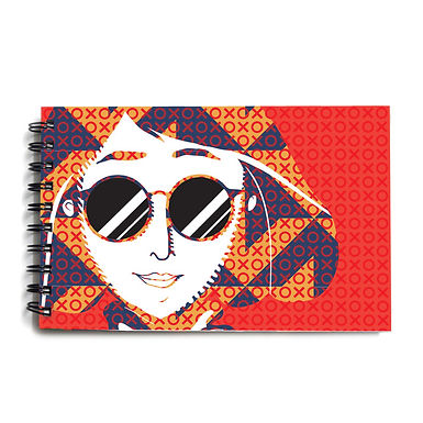 Urban Girl Red Hardbound Sketchbook 1