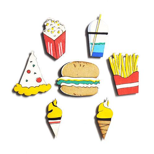 Food Badge Magnets Combo 1